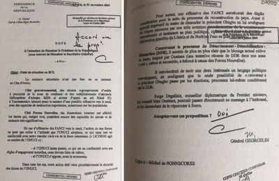 #Rébellion2004 / Le général Georgelin l'affirme : Soro est bien le fils de Ouattara...et ce sont eux les responsables de la guerre civile (#Chiracsavait #LaPresseaussi)