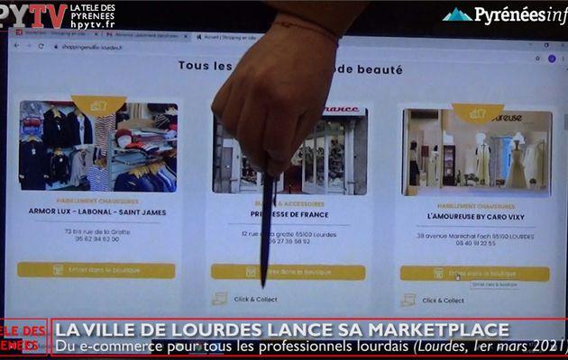La Télé de Lourdes :: La Ville de Lourdes lance sa marketplace pour ses commerces (1er mars 21)