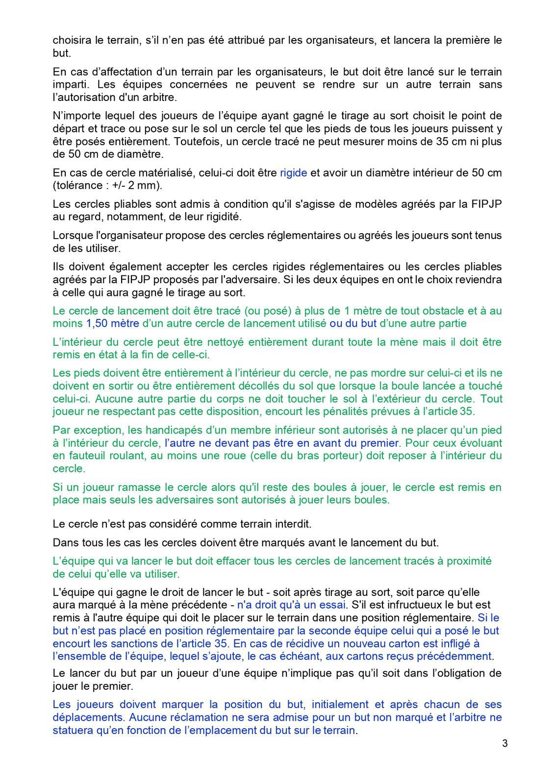 2021 Règlement officiel Pétanque