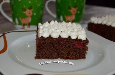 Gâteau au yaourt, chocolat et framboise