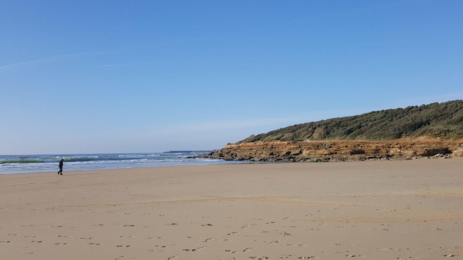Sur la plage du Veillon