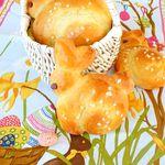 Lapins de Pâques en brioche