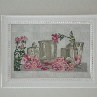 Tableau broderie Les Roses