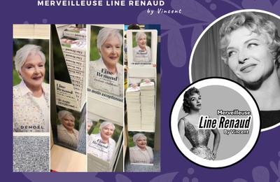 PUBLICTE: Présentoir du Livre en Tout confidence de Line Renaud