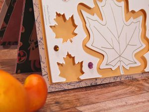 Carte - Halloween - Scan N Cut - CM - SDX1200 - Brother - Brother france - Kirigami - Canvas Workspace - Feuilles - Automne - Strass - Stickers