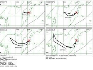 Sheveluch - Volcanic Ash Advisory pour les 22 et 23.01.2019 - Doc. VAAC Tokyo - un clic pour agrandir