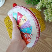 Patchwork Cosmetic Bag ~