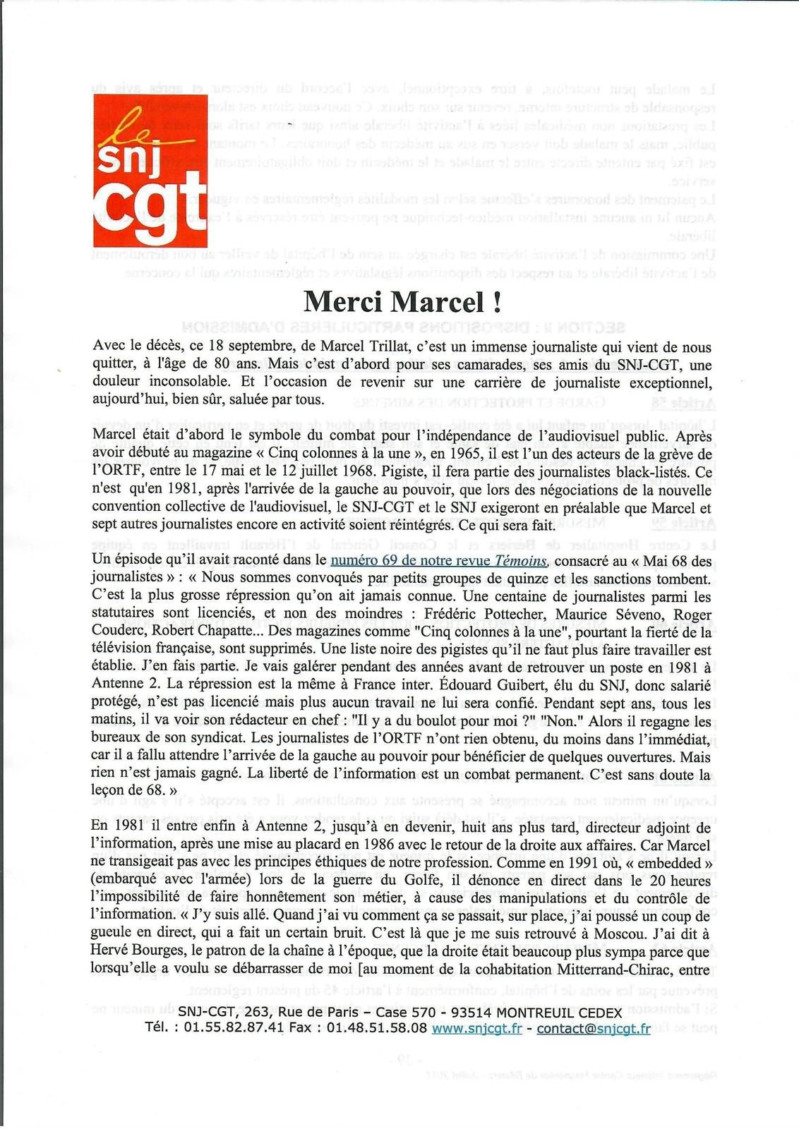 HOMAGE A MARCEL TRILLAT :