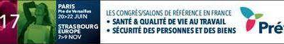 PREVENTICA 2017: CONFÉRENCES SÉCURITÉ / SÛRETÉ - PARIS 2017