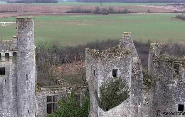Le  Château de  Passy-Les-Tours   avec vues aériennes...