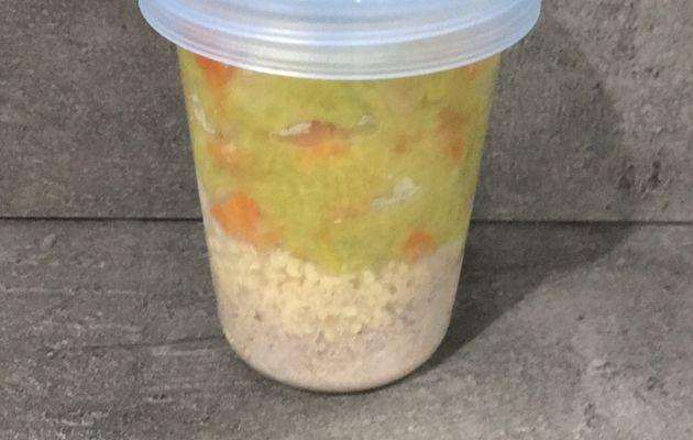 Repas bébé dès 10 mois - Purée poireaux carottes navet veau semoule
