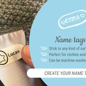 Personalized dummies, name tags, cutlery and personal gifts - byhappyme