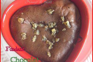 Fondant Chocolat aux Pépites de Gingembre Confit pour la St Valentin