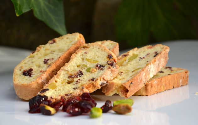 Biscotti pistaches cranberries