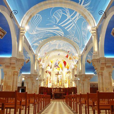 Du street art dans une église ? Découvrez cette fresque monumentale