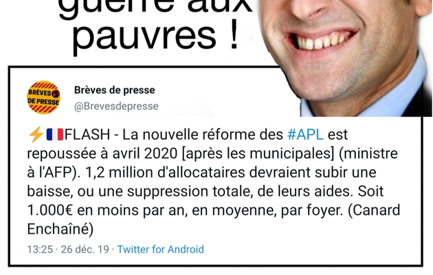 Macron mène la guerre aux pauvres