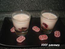 Verrines de fromage blanc au coquelicot