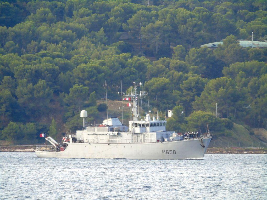 SAGITTAIRE  M650 ,  Chasseurde mines type tripartie , arrivant à Toulon le 13 septembre 2018