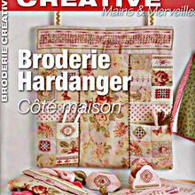 "Broderie créative,spécial Hardanger ""Coté maison"" N°46...."