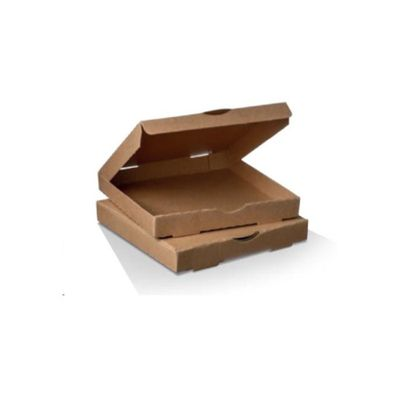 Go with the Bio-Degradable Brown & White Cardboard Packaging Pizza Box