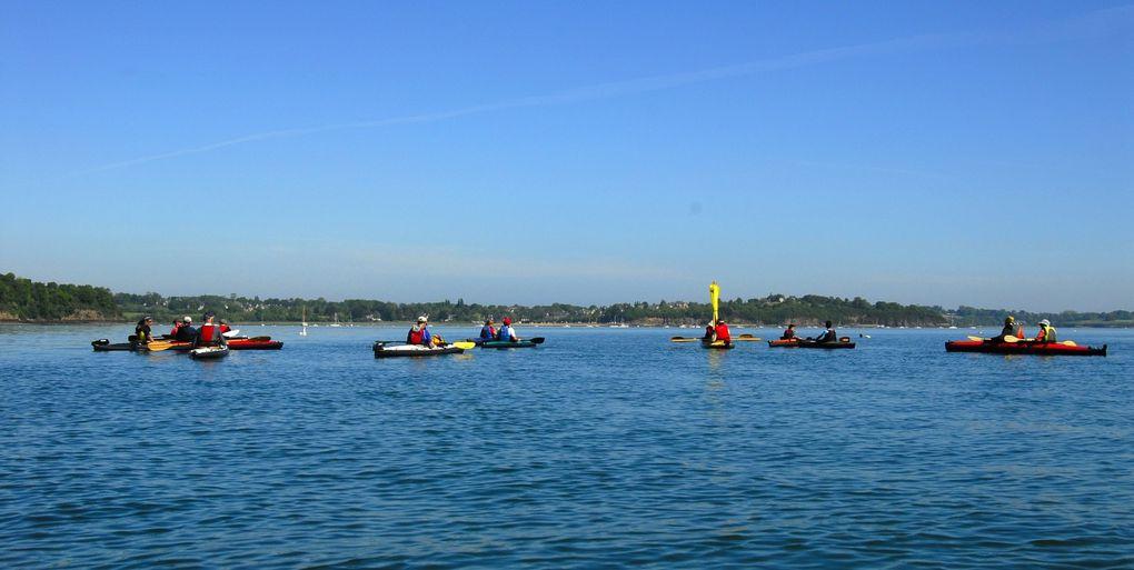 rassemblement de kayaks pliables sur la Rance