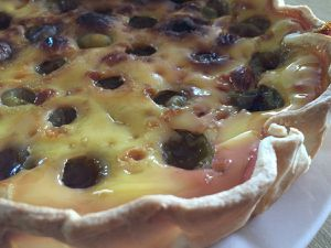 Tarte flan aux figues