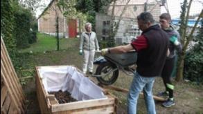Jardin Mazagran - Les premiers bacs opérationnels