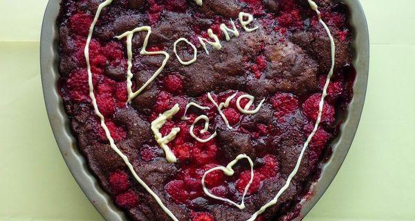 Gâteau pour la Fête des Mères au chocolat et aux framboises
