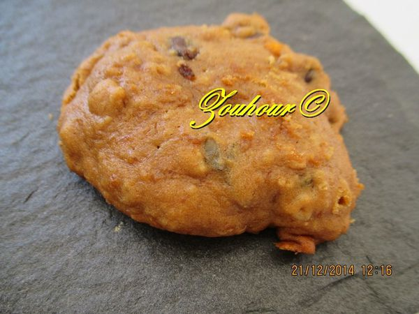 Biscuit à la purée de citrouille et pépites de chocolats, Pumpkin chocolate chip cookie