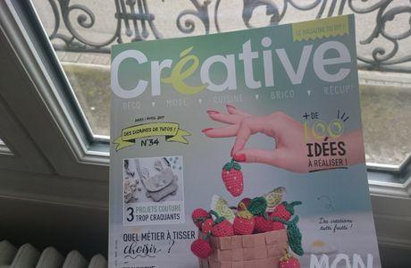 Ô Merveille ! nos pâquerettes feutrées dans le magazine Créative !