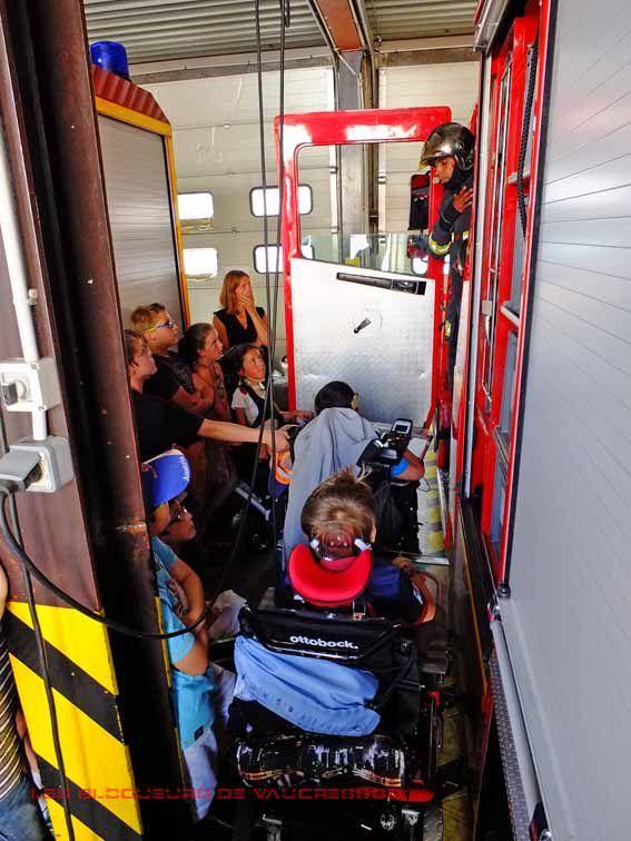 Visite des classe de CM1 et CM2 dans l'école des correspondants et chez les pompiers de Rueil Malmaison