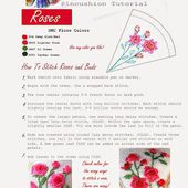 fiberluscious: Instruction Sheets for Hydrangea and Geraniums, and the Rose