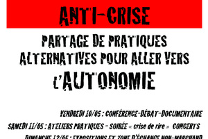 10-11-12 Mai. WEEK -END ANTI-CRISE (Programme)