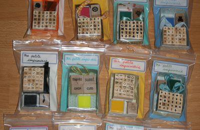 Set d'imprimerie tampons alphabet & encreur