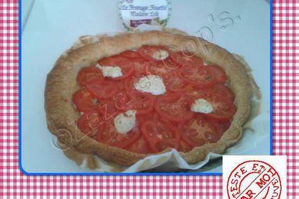 La tarte au thon et tomates.