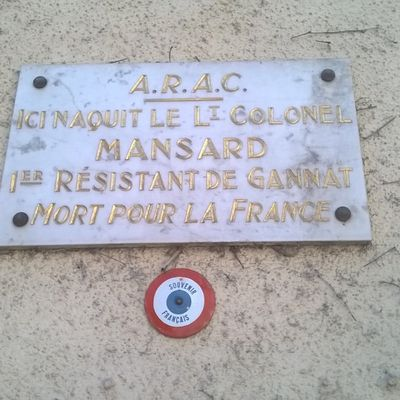 """Un nom, un résistant : Edmond MANSARD """"premier résistant gannatois"""""""