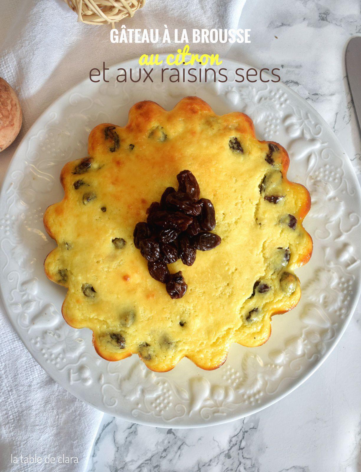 Gâteau à la brousse au citron et aux raisins secs