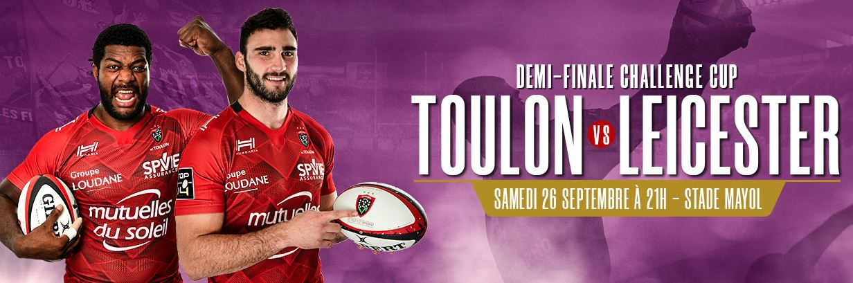 RC Toulon / Leicester Tigers (1/2 Finale Challenge Cup) en direct ce samedi sur France 4 et beIN SPORTS !