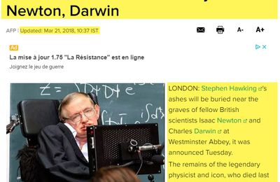 Stephen Hawking's ashes to sit near graves of Newton and Darwin