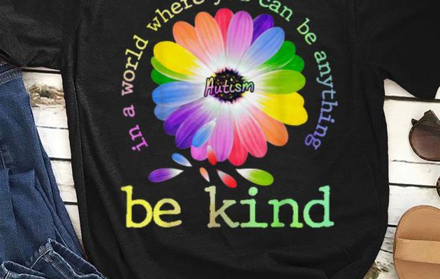 Official In A World Where You Can Be Anything Be Kind Autism shirt