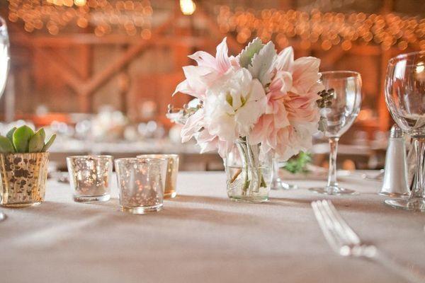 Photophores et vases or ou argent pour votre évènement?