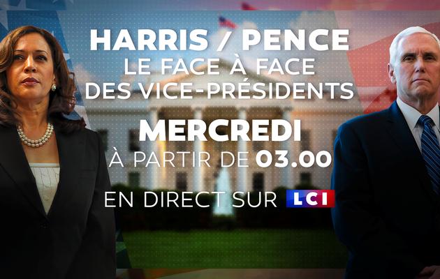 USA 2020 : Débat Harris/Pence à suivre mercredi en direct sur LCI