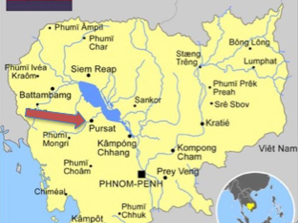 Pursat ou Pouthisat (ខេត្តពោធិ៍សាត់ ) au Royaume du Cambodge.