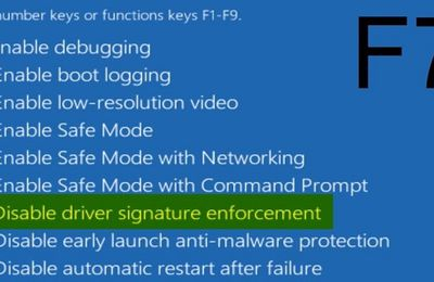 How to Turn off Driver Signature Enforcement?