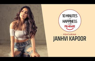 """My father calls me headmaster,"""" reveals Actress Janhvi Kapoor on 10 Minutes of Happiness with Filmfare"""