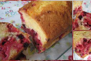 Cake aux fruits rouges du jardin