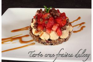 Tarte crue fraises dulcey
