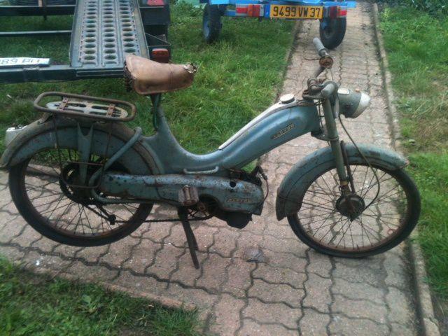 Alcyon La Mouette du 1955 environs Année 1959 N° cadre : 44.... N° moteur : 52.... Carburateur : Gurtner D12 479 G 4/59