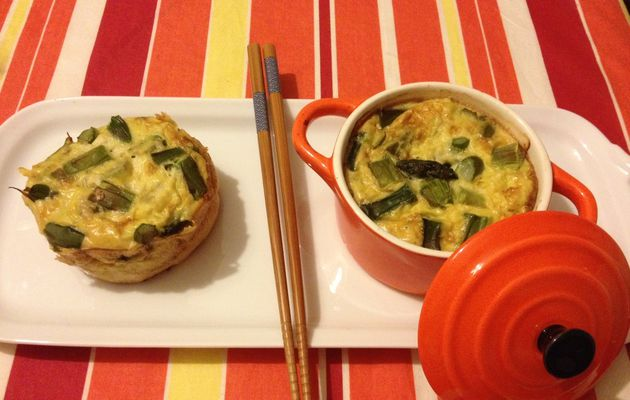 Flan d'asperges vertes et jambon cuit