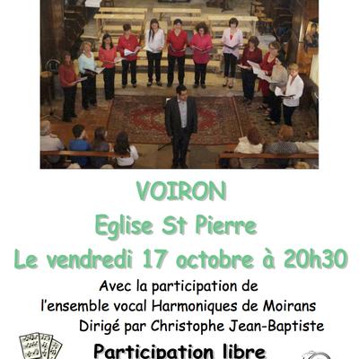 Les Sitelles invitent EVH pour un concert à St Pierre de Voiron